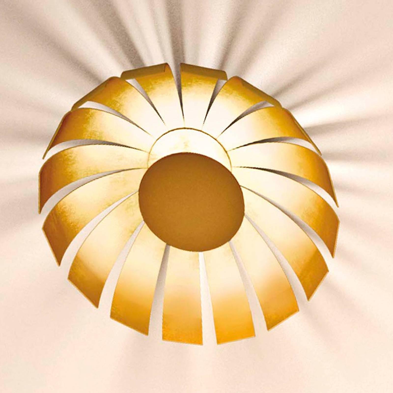 Kullattu LED-design-kattovalaisin Loto, 33 cm