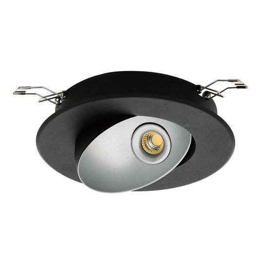 Upotettava LED-kohdevalaisin Ronzano 1 musta-hopea