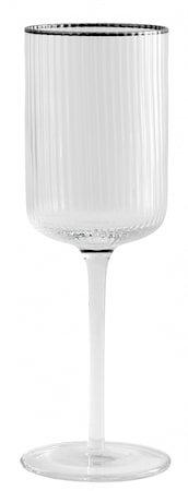RILLY rødvinsglass med Sølvkant 36cl