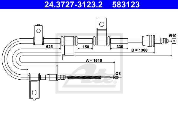 Käsijarruvaijeri ATE 24.3727-3123.2