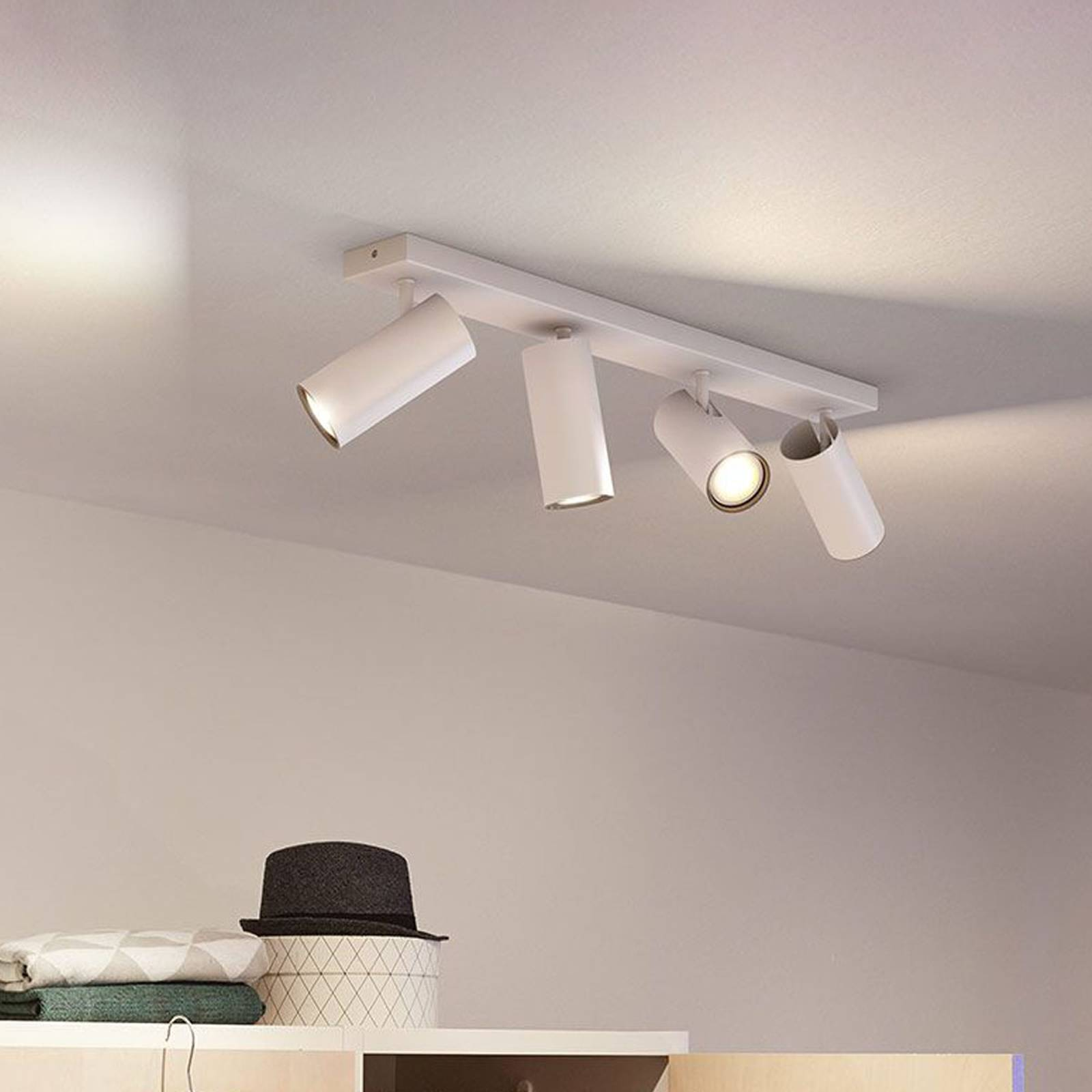 Philips Hue Buratto LED-spotti 4-lamppuinen
