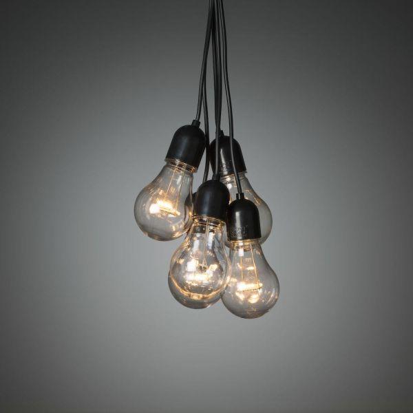 Konstsmide 2383-800 Jääpuikkovalosarja 24 V 10 lamppua