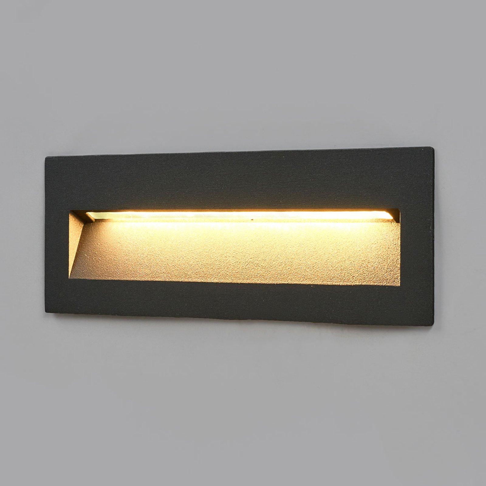 Loya mørk utendørs LED vegglampe for innfelling