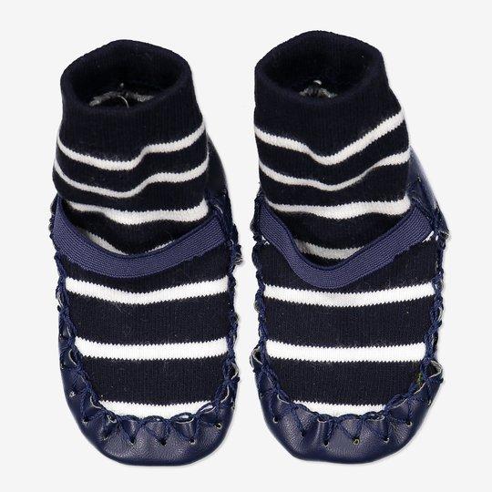 Stripete mokasiner baby mørkblå