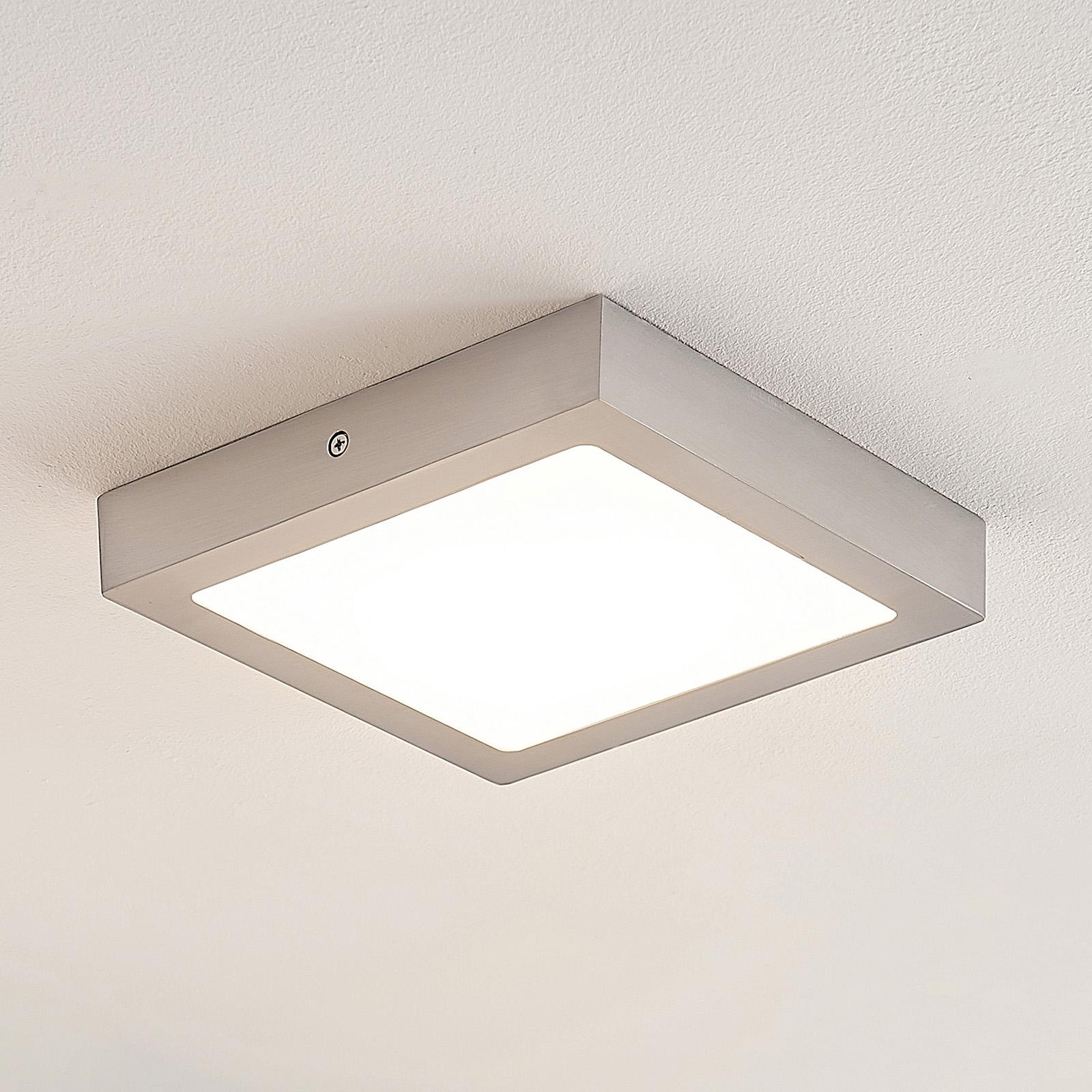 ELC Merina LED-kattovalaisin nikkeli 21,5x21,5 cm
