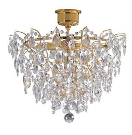 Rosendal Plafond 4 Ljus Guld