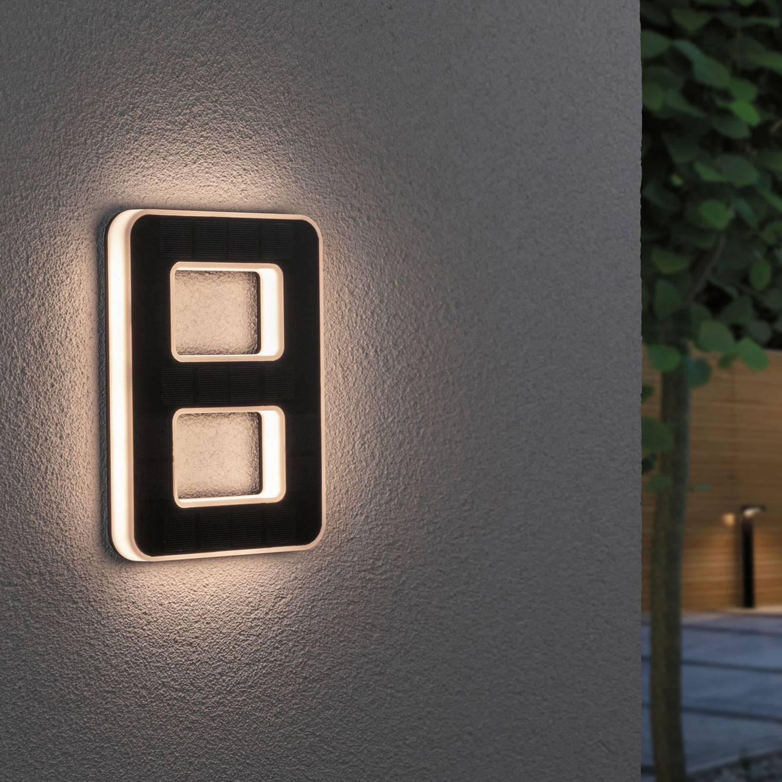 Paulmann aurinkokäyttöinen LED-talonnumero 8