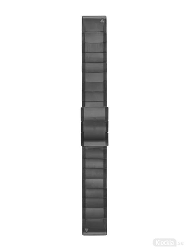 Garmin QuickFit 22mm - Klockarmband, Grafitgrå, Rostfritt stål