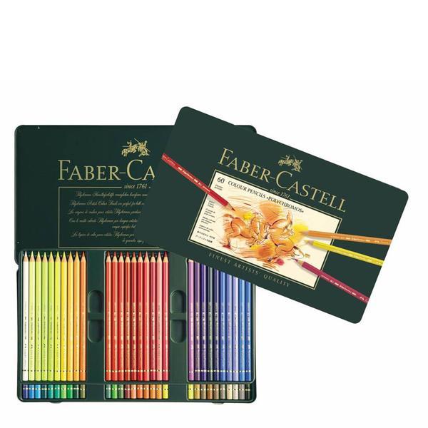 Tin of 60 Polychromos Artists' Colour Pencils