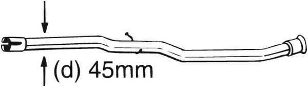 Korjausputki, katalysaattori BOSAL 889-175