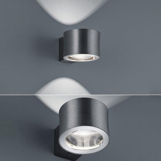BANKAMP Impulse LED-vegglampe antrasitt