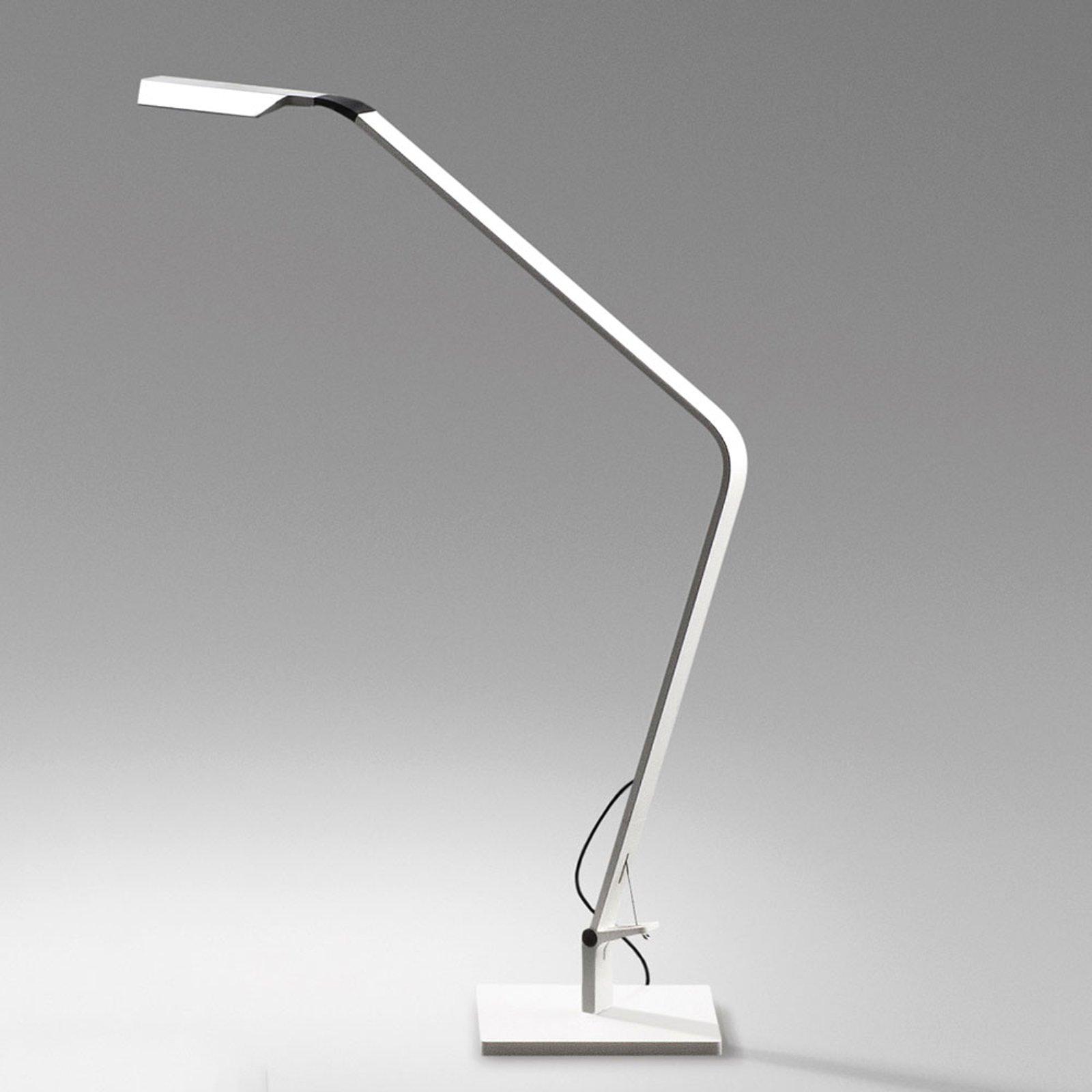 Flex dimbar LED bordlampe, matt hvit