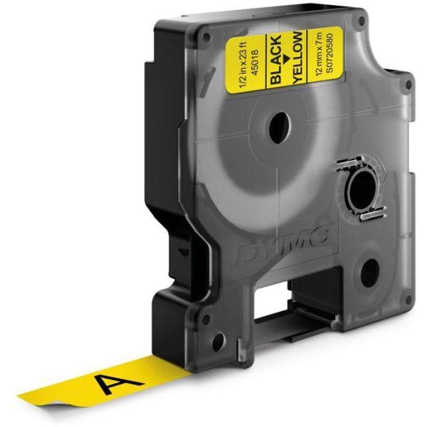 DYMO Standard D1 Teip 12mm Svart på gult