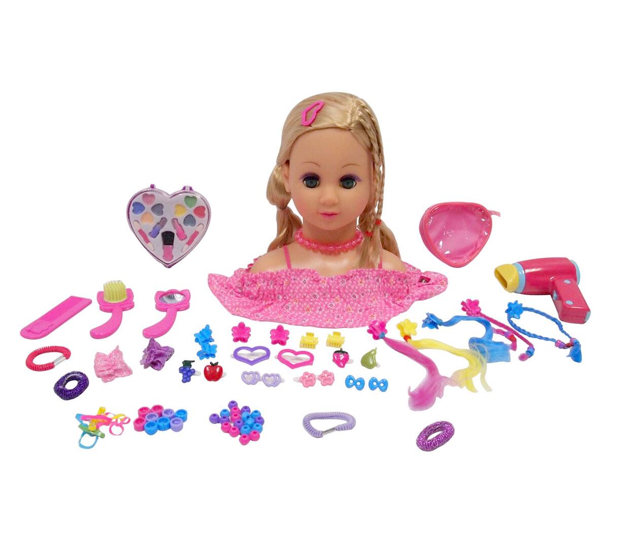 Happy Friend - Make Up Dollhead - Blonde (804012)
