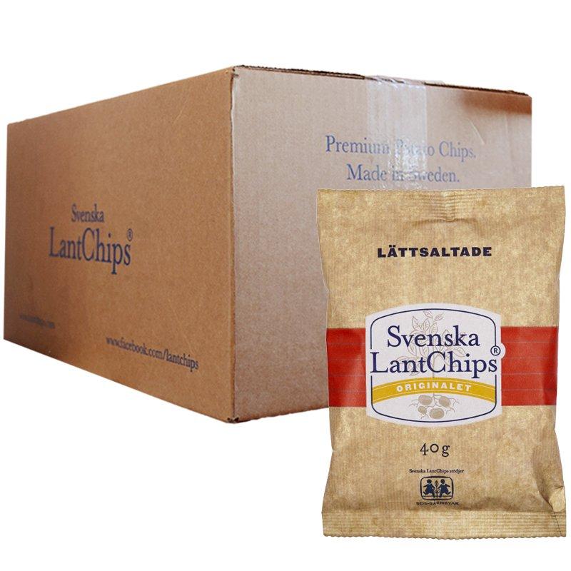 Hel Låda Chips Lättsaltade 20 x 40g - 38% rabatt