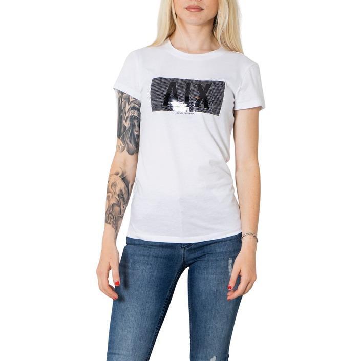 Armani Exchange Women's T-Shirt White 273394 - white XS