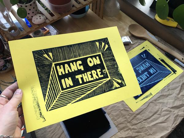 At Home: Lino Cutting