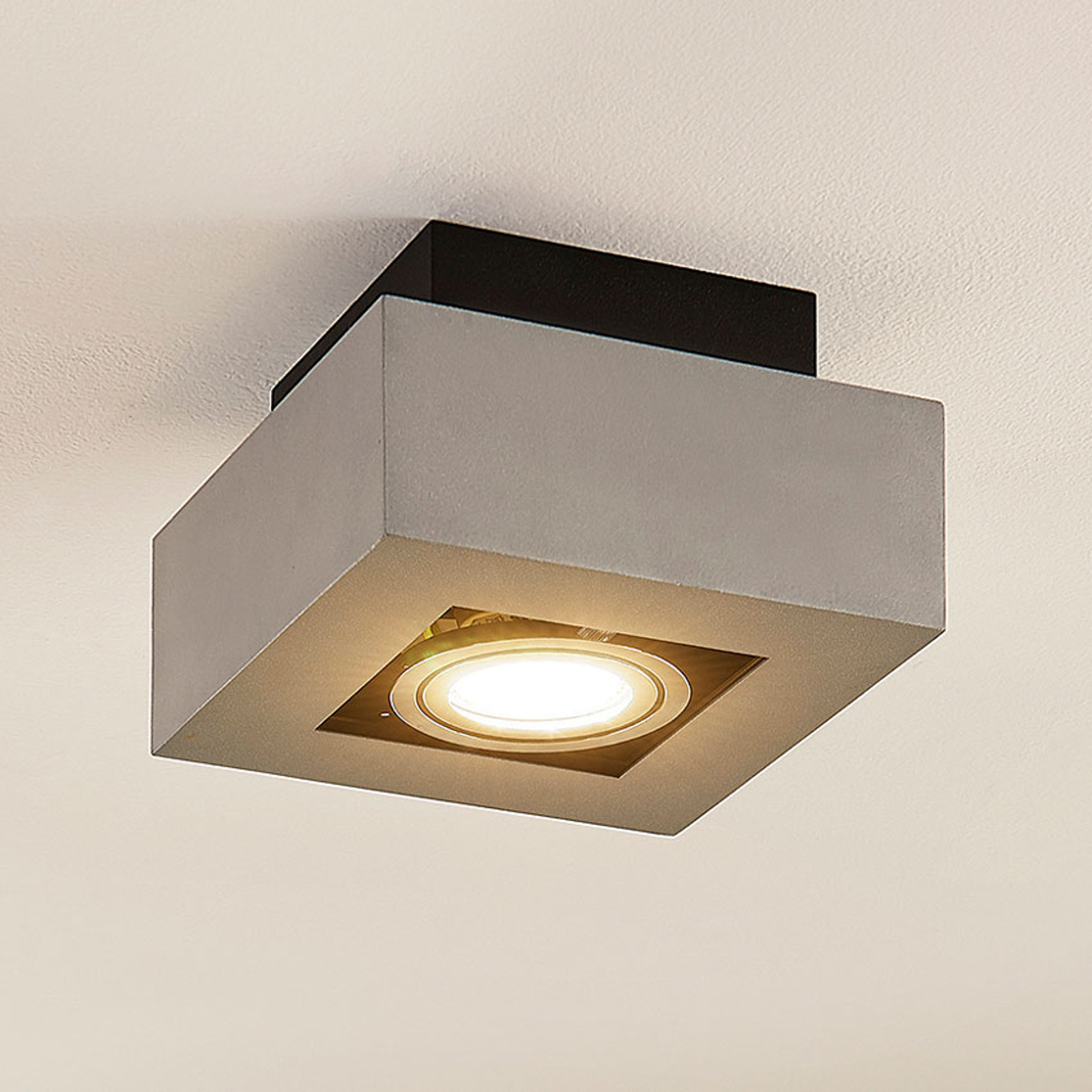 Alumiininen LED-kattovalaisin Vince, hopeanharmaa