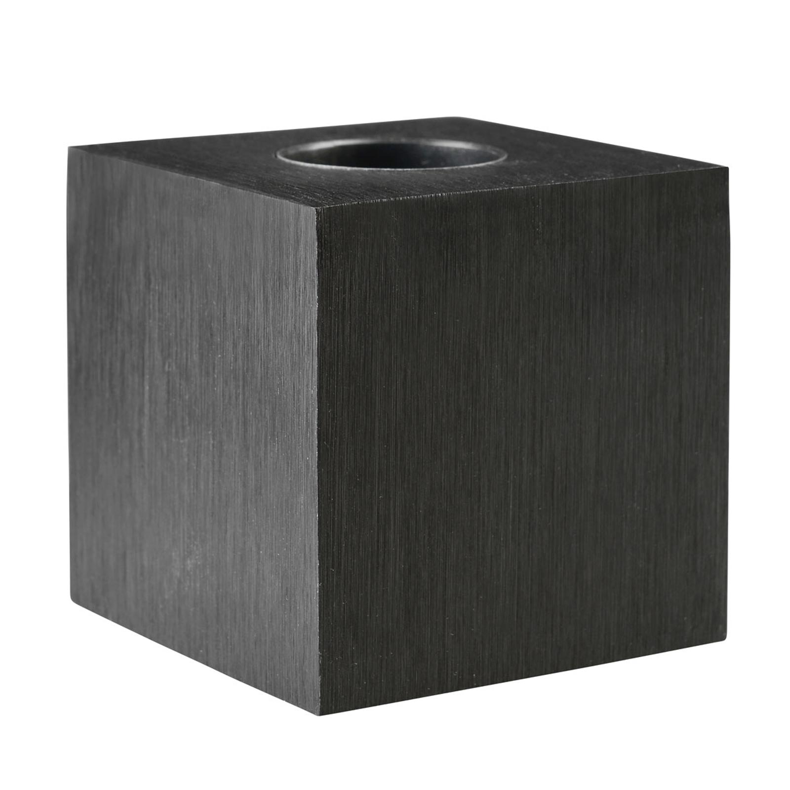 Pöytävalaisin Cubic, musta