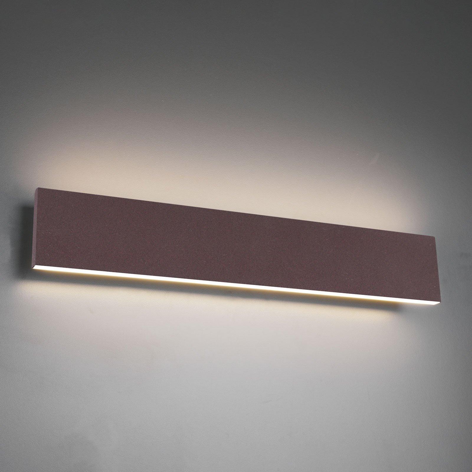 LED-vegglampe Concha 47 cm, rust