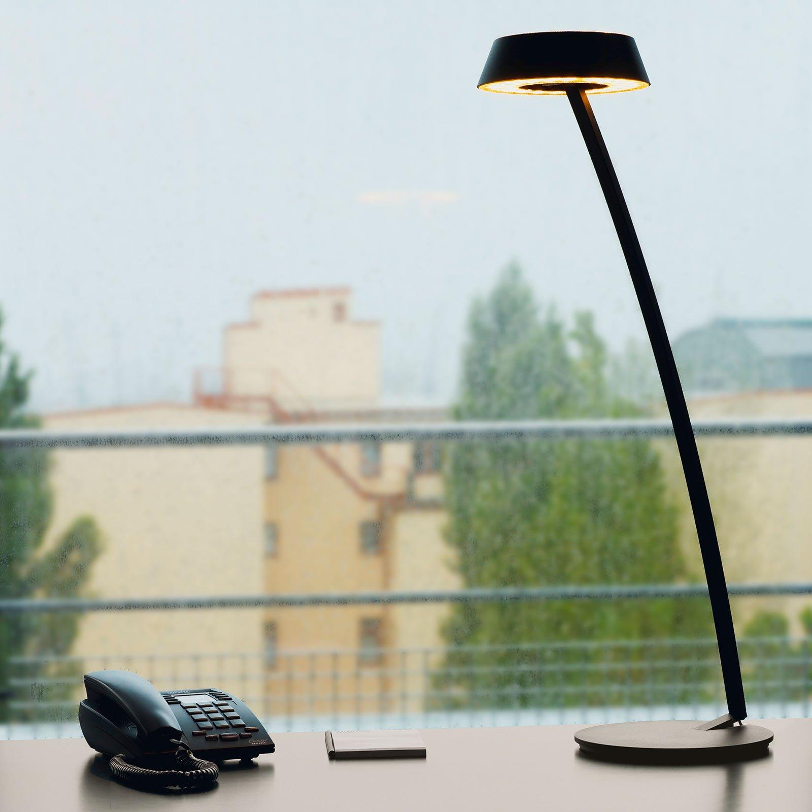 OLIGO Glance LED-bordlampe bøyd, svart matt