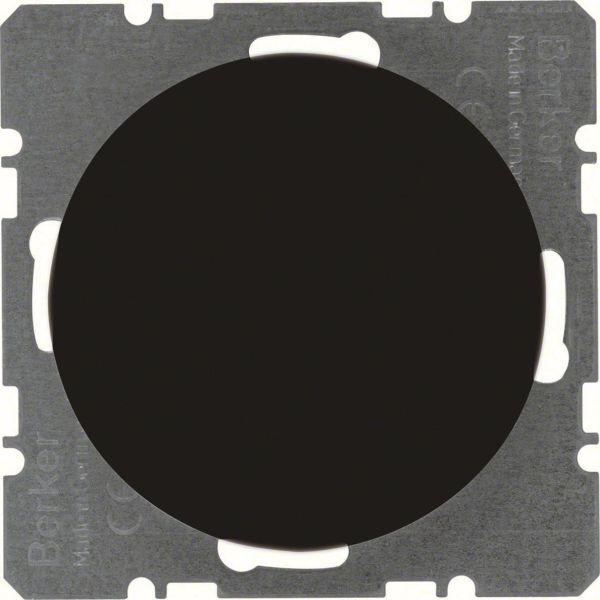 Hager 10092045 Umpinainen keskiölevy Berker-sarjalle R.1/R.3 Musta