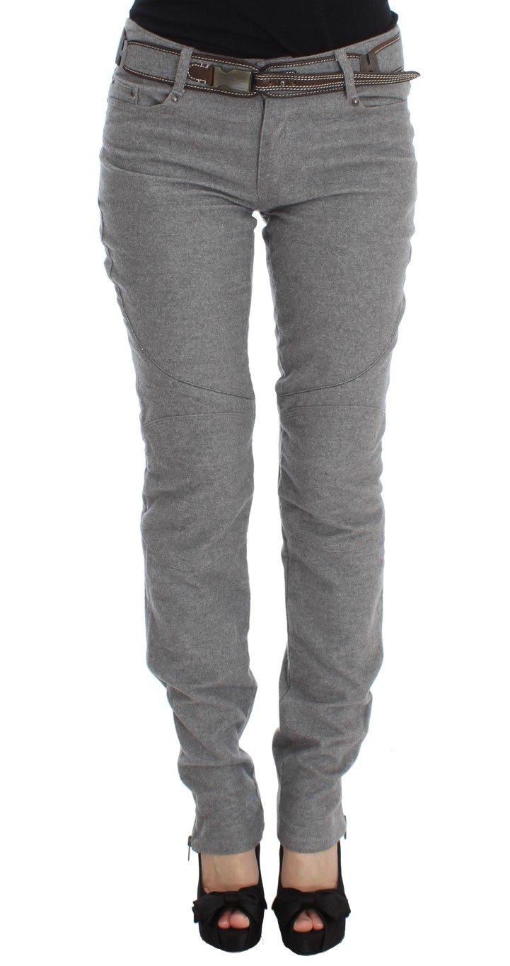 Ermanno Scervino Women's Slim Fit Boot Cut Jeans Grey SIG30298 - IT46|XL