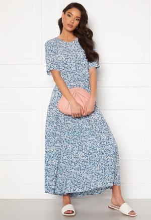 ONLY Amalie Life SS Midi Dress Vintage Indigo/Flora L
