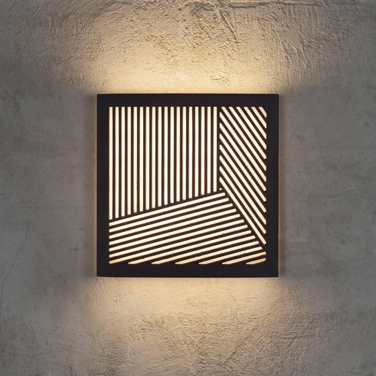 LED-ulkoseinävalaisin Maze Straight, musta