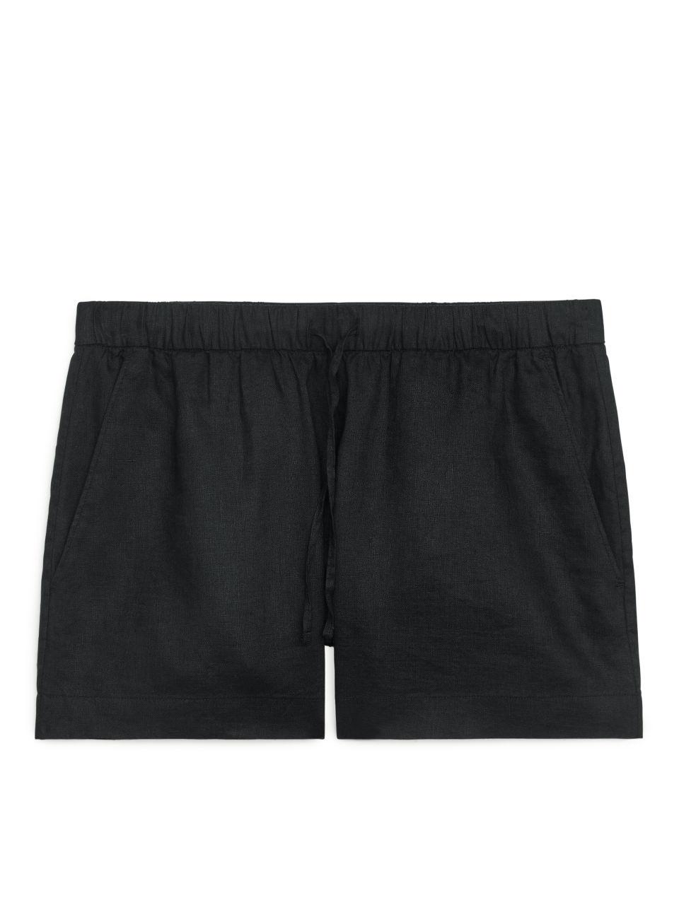 Linen Shorts - Black