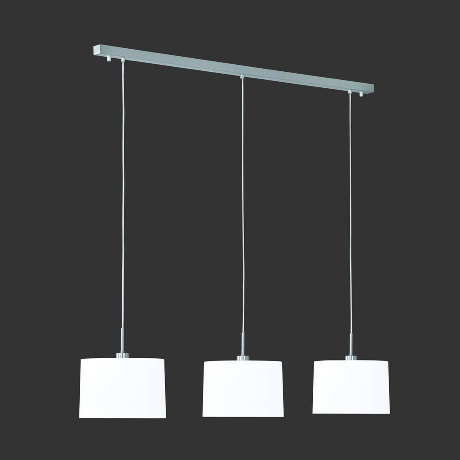 Riippuvalaisin Loop 3-lamppuinen, valkoinen sintsi