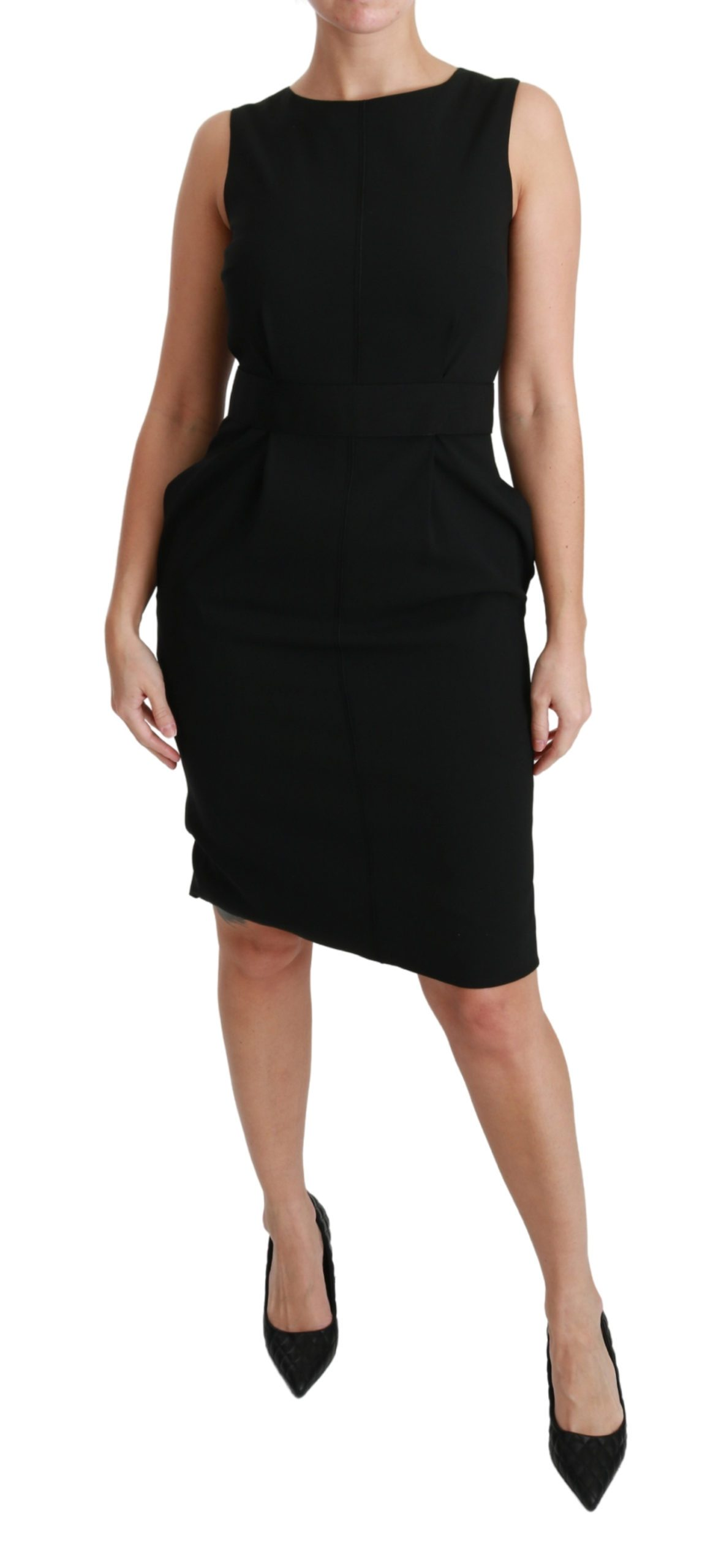 Dolce & Gabbana Women's Floral Sheath Stretch Formal Dress Black DR2165 - IT36 | XS