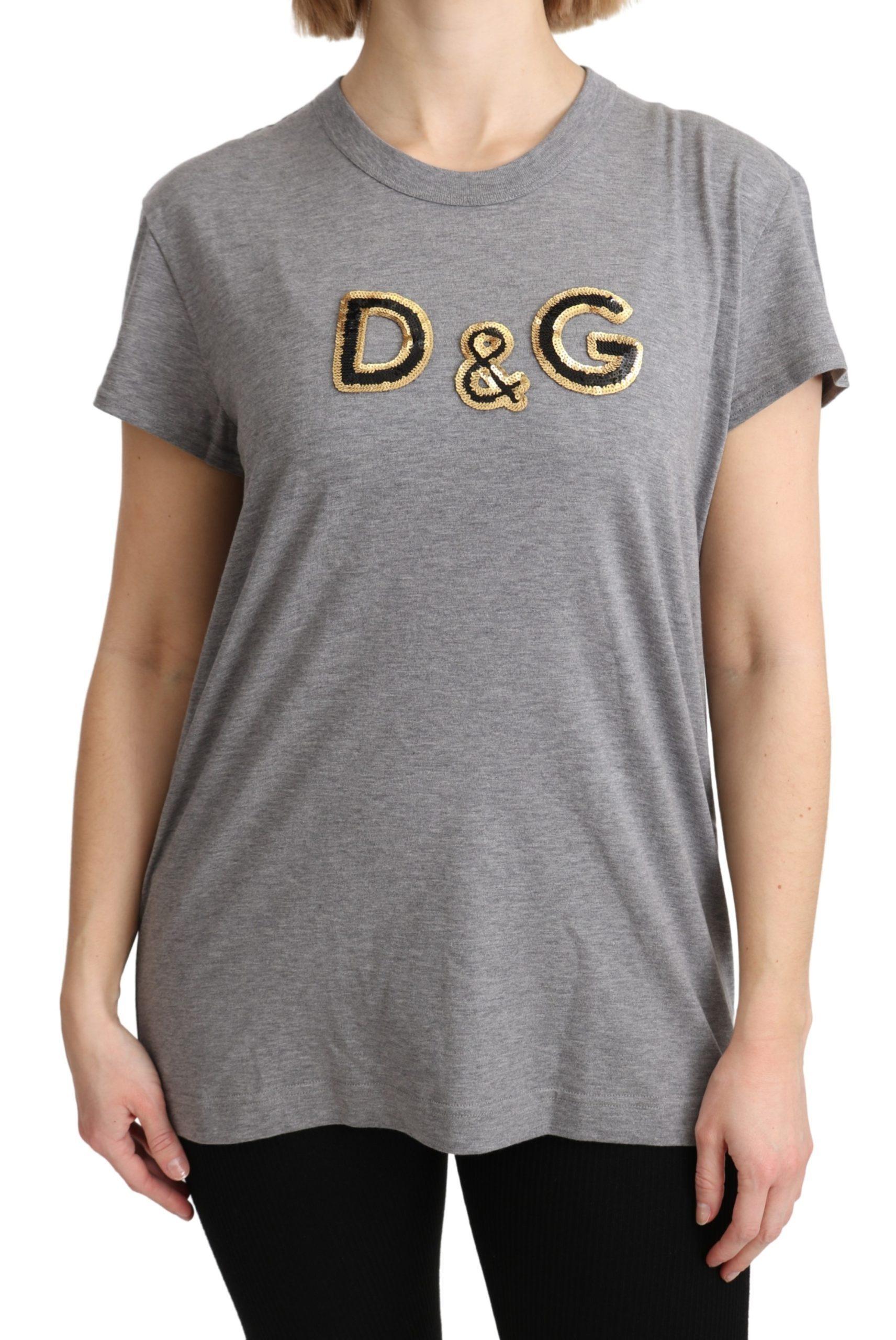 Dolce & Gabbana Women's D&G SS T-Shirt Gray TSH5183 - IT44|L