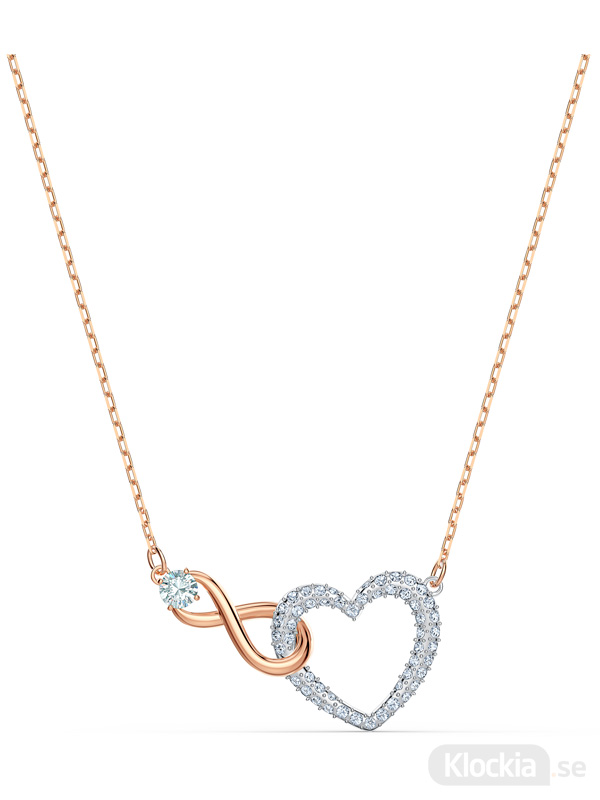 Damsmycke Swarovski Halsband Infinity Heart