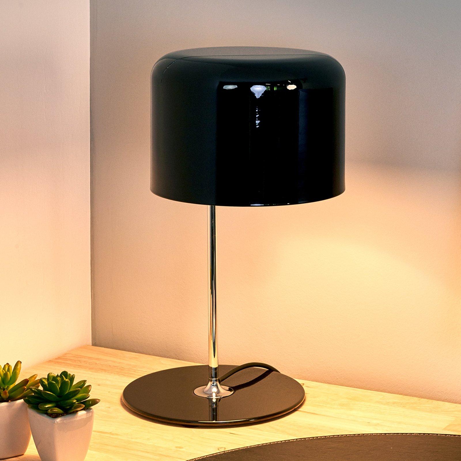 Coupé - tidløs design-bordlampe svart