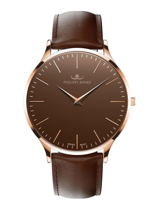 Philippe Banks Slimline 40 Rosé Brown Leather 402-03-L03