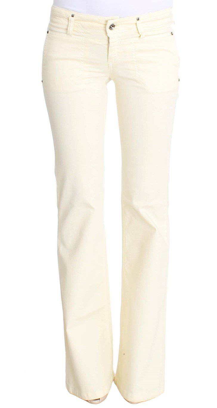 Costume National Women's Cotton Stretch Flare Jeans White SIG30213 - W26