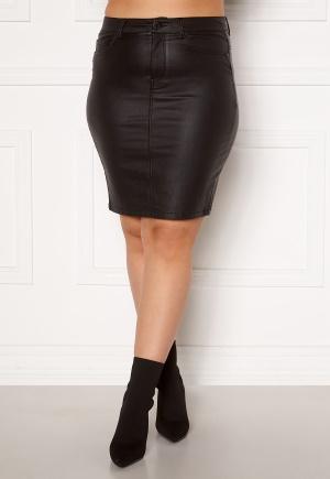 Only Carmakoma Emilia Rock Coated Skirt Black 44