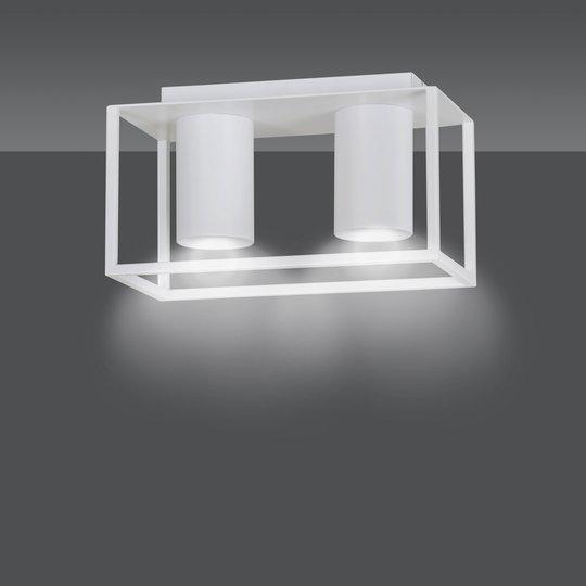 Takspot Tiper med stamme, 2 lyskilder, hvit