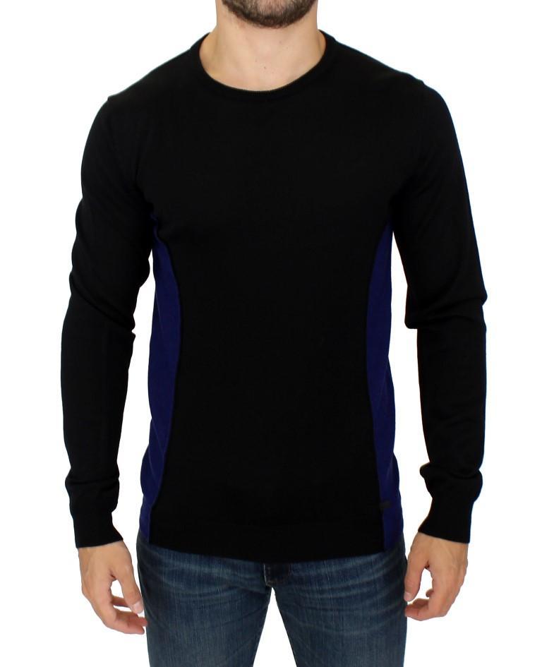 Costume National Men's Crewneck Wool Sweater Black SIG10534 - IT48 | M