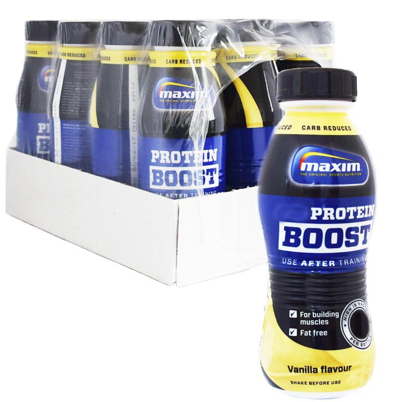 "Hel Platta Proteindryck ""Vanilla"" 12 x 480ml - 63% rabatt"