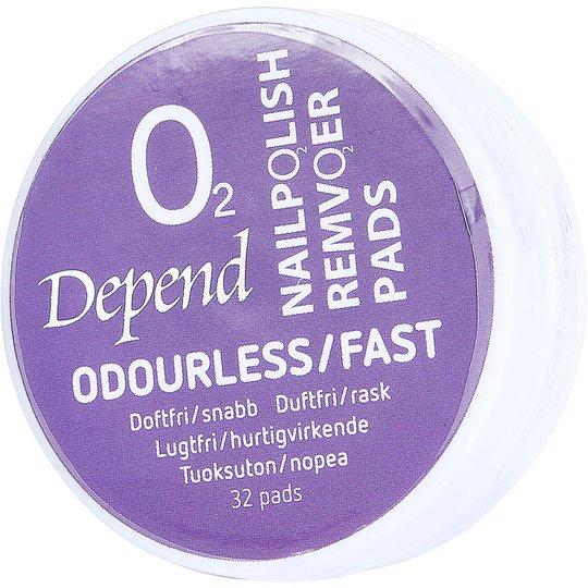 Depend O2 Nail Polish Remover Pads, Depend Kynsilakanpoistoaineet