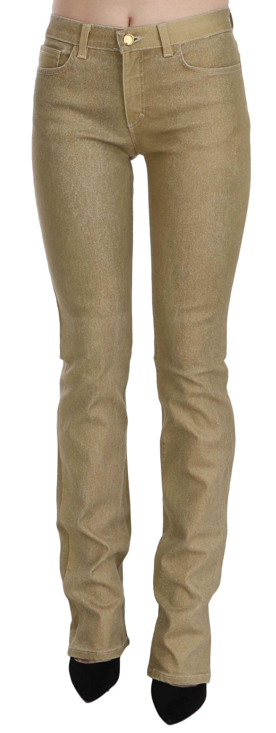 Cavalli Women's Mid Waist Skinny Denim Trouser Brown PAN70348 - IT40|S