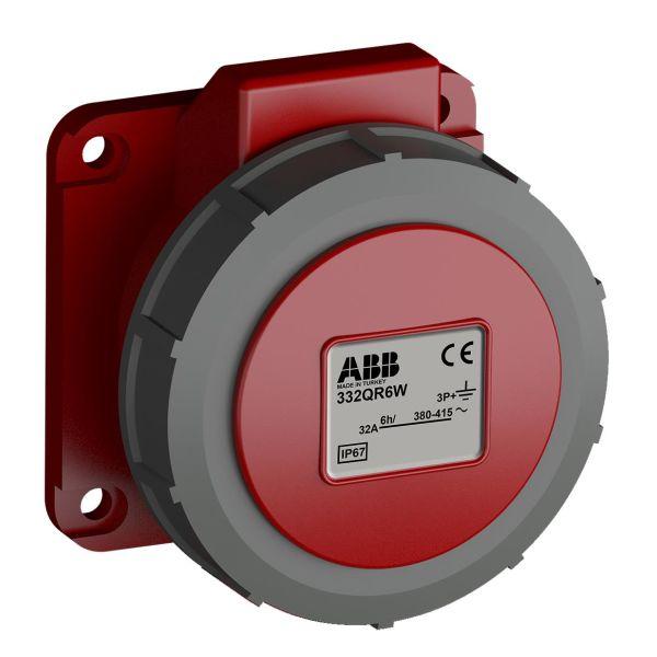 ABB 2CMA102376R1000 Paneluttak hurtigtilkoblet, vibrasjonsbestandig Rett, 4-polet, 32 A