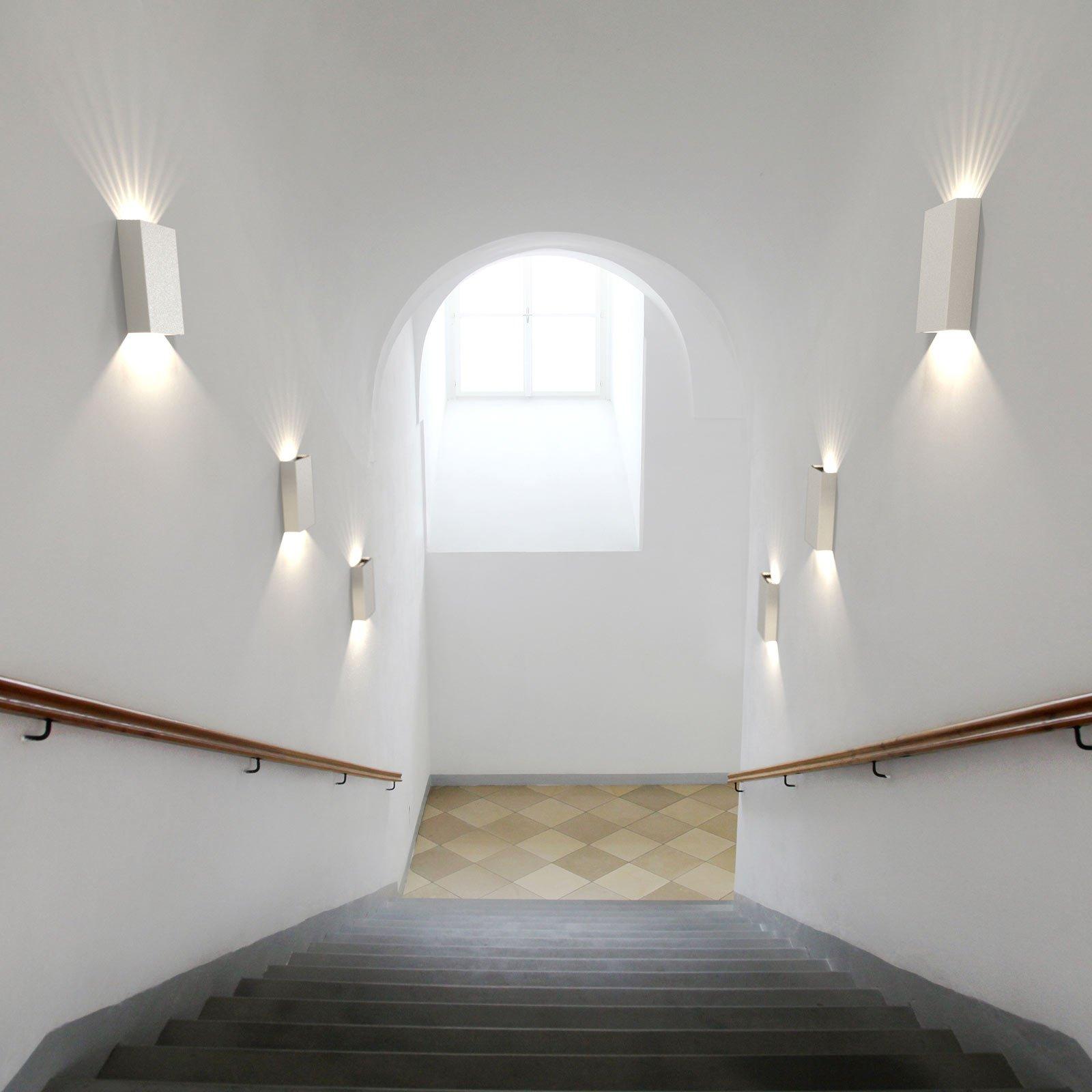 Utendørs LED-vegglampe Fold 15, 21 cm, hvit