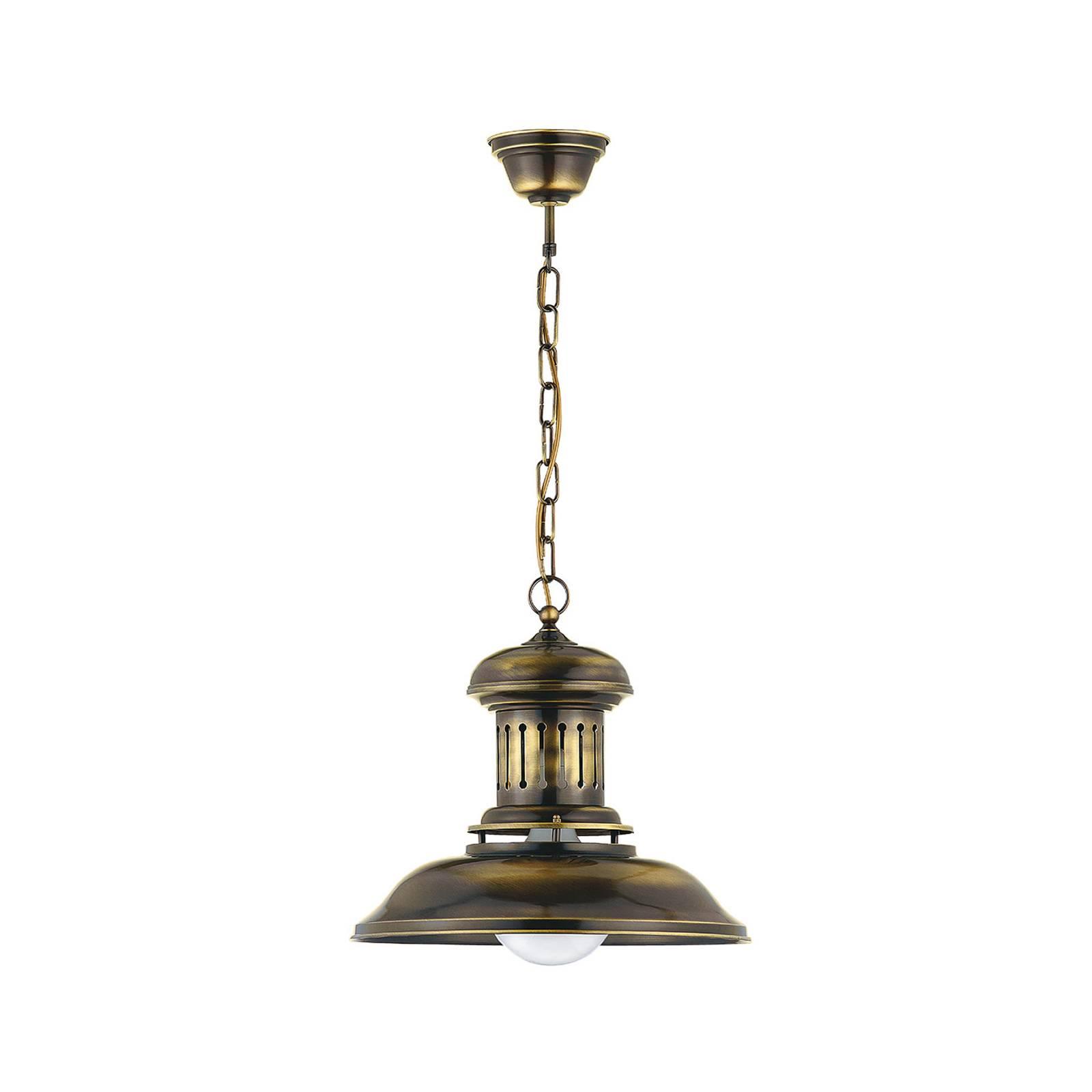 Riippuvalo Bell, 1-lamppuinen, antiikki messinki