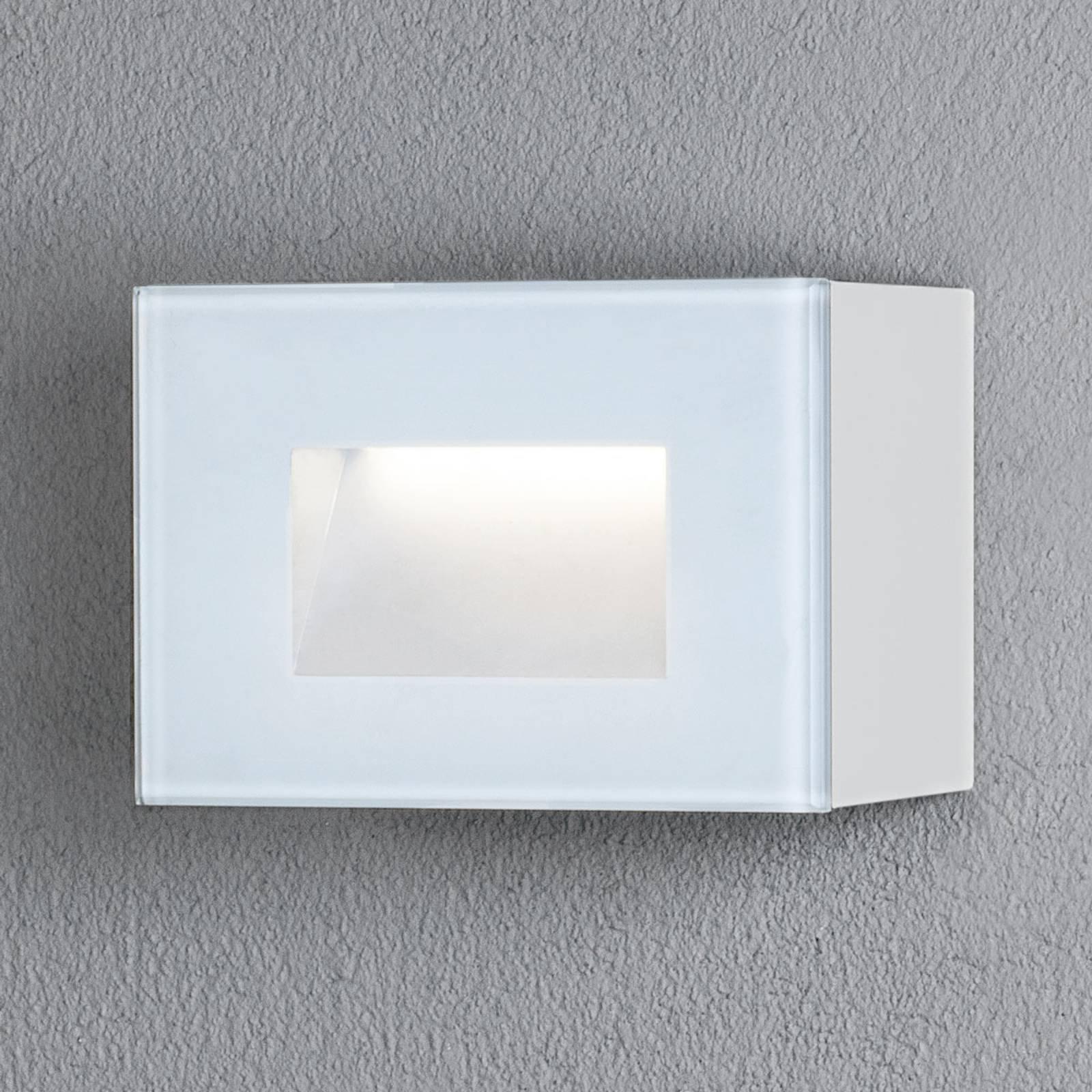 Chieri utendørs LED-vegglampe, 12 x 8 cm, hvit