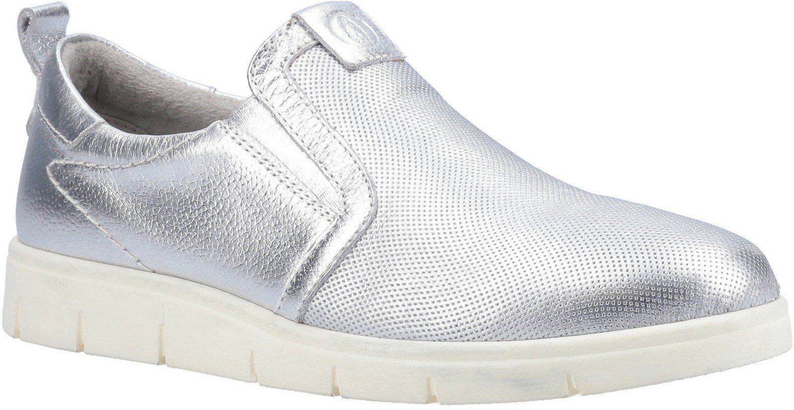 Hush Puppies Women's Lumi Slip On Trainer Various Colours 29232 - Silver 3