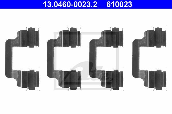 Tarvikesarja, jarrupala ATE 13.0460-0023.2
