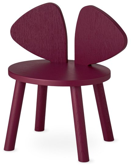 Nofred Mouse Stol, Burgundy